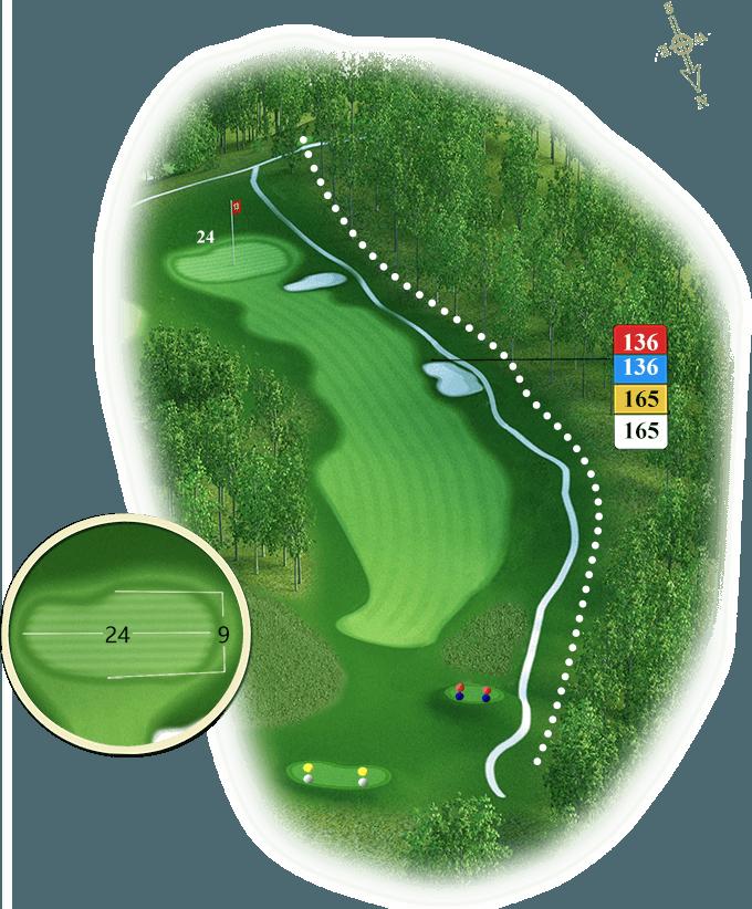 Plan du trou numéro 13 - Golf de Souillac - Vallée de la Dordogne
